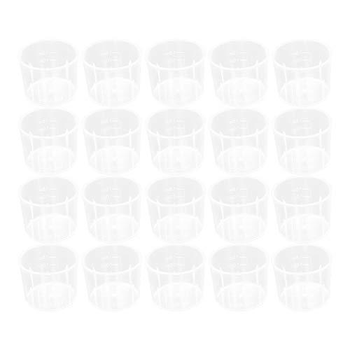 Othmro Measuring Cup 15ml PP Plastic Graduated Beaker Transparent for Lab Kitchen Liquids 50pcs