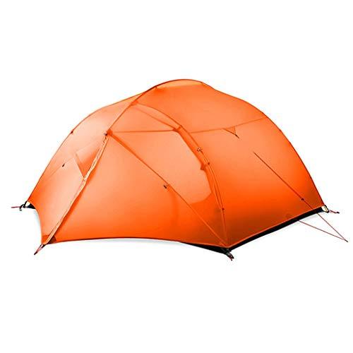 LMJ Tienda de campaña 4 Persona Fácil de configurar Doble Capa Impermeable Carpa 3 Temporada de Familia Senderismo Ciclismo (Color : Orange)