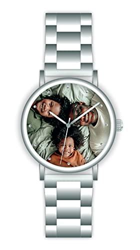 Memories - Reloj de pulsera personalizado con su foto, diámetro de 40 mm, regalo para fotos para amigos y familia, fabricado en Alemania