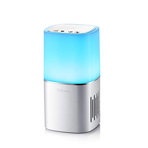DiKaou Bedside Lamp with Bluetooth Speaker, Dimmable Table Lamp & Bedroom Decor Mood Light with Color Changing ,TWS Supported,Best Gift for Men Women Teens Kids Children Sleeping Aid