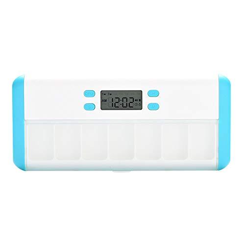 Wöchentlich Digital Pille Organizer, Elektronische Pille Erinnerung, Automatische Tabletten-Spender mit Erinnerung, Pillendose Tablettenbox Handlicher und Feuchtigkeitsbeständiger Medikamentenbox