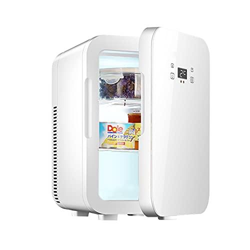 HANSHUMY 12L冷蔵庫 -9℃~65℃ 冷蔵&加熱 ミニ 冷蔵庫 12V車用 110V家庭用 小型 ポータブル 冷温庫 静音 キッチン オフィス ひとり暮らし 環境温度より30℃低い ホワイト