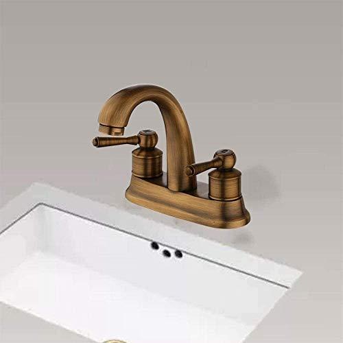 JOMOSIN SLT0212 Grifo de riego latas de agua rociadores de baño grifo de lavabo estilo europeo dos asas centro conjunto de baño recipiente fregadero grifo de latón antiguo grifo de vanidad resistente