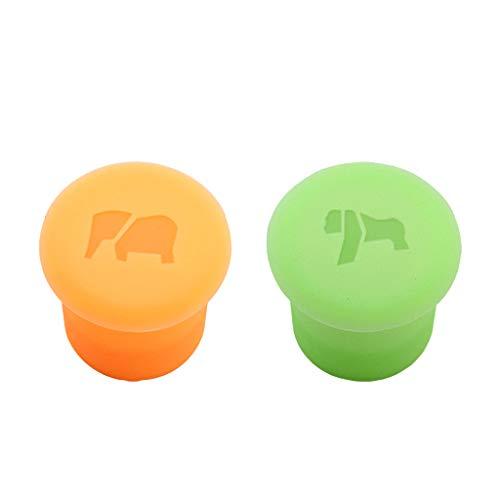 JIUYECAO Caja de hielo de silicona Orangután naranja elefante verde conjunto 3D animal cubo de hielo molde de...