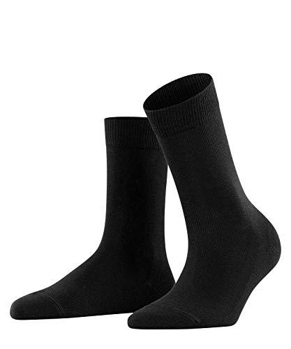 FALKE Damen Socken Family - 94% Baumwolle, 1 Paar, Schwarz (Black 3009), Größe: 35-38