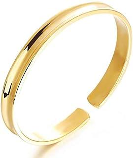 Electroplated 18k gold glossy bracelet for women