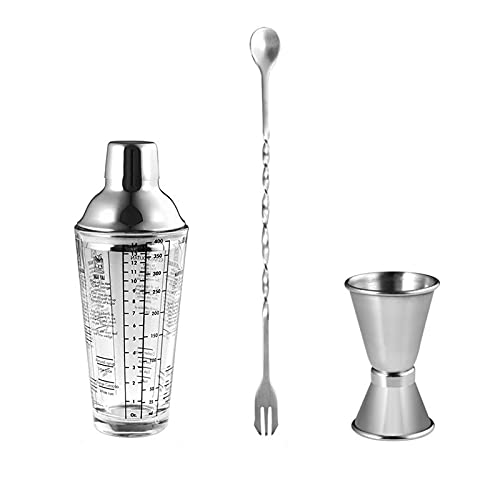 Bar Set Tools Cocktail Set Kit Glass drink shaker Cocktail shaker set hand crank with scale to adjust cocktail set glass cocktail glass milk tea shop special tool Bartender Drink Mixer Shaker Bar Tool