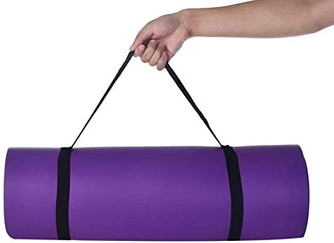 Yoga Mat for Women Non slip Thick Yoga Mat with Carrier Strap Yoga Mat Bag Exercise Fitness product image