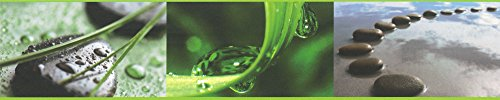 A.S. Création 905611 selbstklebende Bordüre Stick Up, Wellness, schwarz,grau,grün