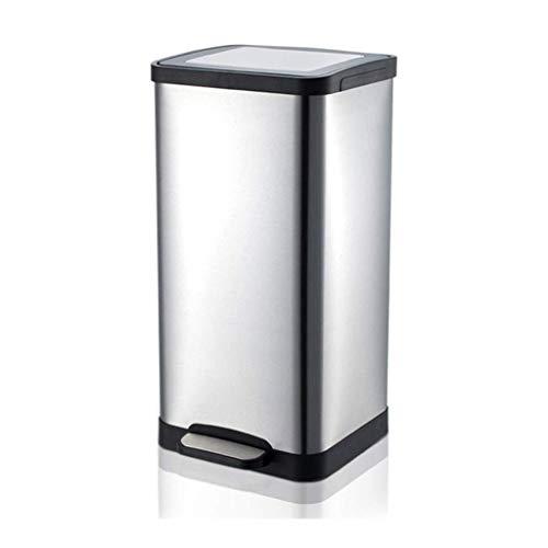 SMEJS Papelera automática de acero inoxidable, con sistema de control de olores, oficina, hogar