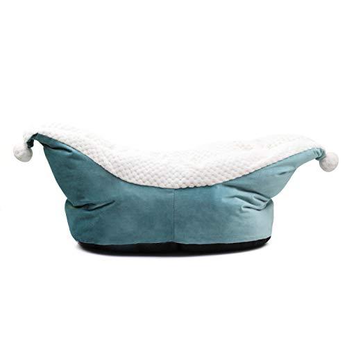 xinyawl Hundebett Tiefschlaf Hundebett für kleine Hunde Bootsform Verdicken Katzenbett Winter Warm Fleece Hundebett Haus Niedlich Katzenbett Waschbar S Blau