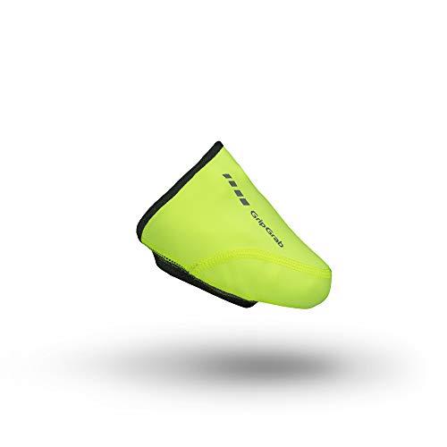 GripGrab Winddichte Rennrad Zehen Überschuhe - Zehenwärmer, Toe Cover, Überzieher, Radsport Unisex, gelb, 46-49