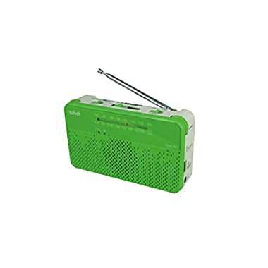 Slive-4U (Green) A Self-Powered Charger, NOAA Weather Radio, Emergency Smart Phone Charger, Rechargeable Flashlight, AM/FM Radio and Siren all in one portable device for regular use and survival kit