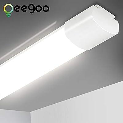 Led Shop Lights 2ft for Workshop Garage, 20W 4000K 2200lm Led Tube Light Super Bright Workshop LED Ceiling Lamp Closet Light Fixtures, IP66 Waterproof, for Indoor Outdoor Lighting