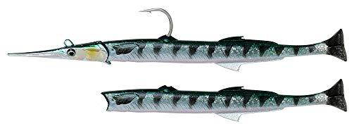 Savage Gear Salt 3D Needle Fish Pulse Tail - Gummifisch zum Meeresangeln, Gummiköder zum Spinnangeln & Jiggen im Meer, Meeresköder, Länge / Gewicht:14cm / 12g, Farbe:Barracuda