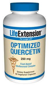 Life Extension Optimized Quercetin 250 Mg, 60 Vegetarian Capsules (packaging may vary)