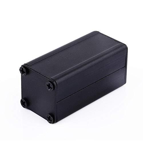 Wal front Caja de Aluminio Extruido, Proyecto Caja de Instrumentos, PCB Caja, Caja de Refrigeración, Electrónica DIY Aluminio Negro 50 × 25 × 25 mm