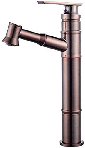 Tapón de baño de latón Retro Extensible con Hoja de Mano extraíble Faucet Fuller Línea Mezclador de Placa Grifo Grifo Grifo Grifo de Agua Grifo