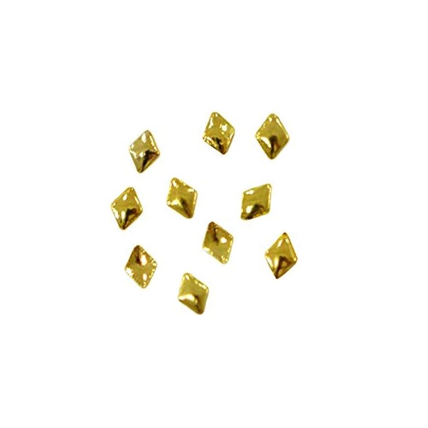蓄積する浸漬トンメタルスタッズ ぷっくり 菱型のメタルスタッズ ランバス 2mm×3mm ゴールド 10個 MP10151 /プリンセスネイル