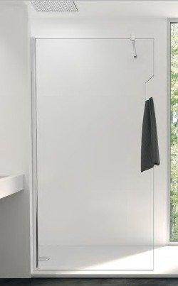 Mampara de ducha fija One cristal transparente Securit 8 mm antical con puerta toalla: Amazon.es: Bricolaje y herramientas