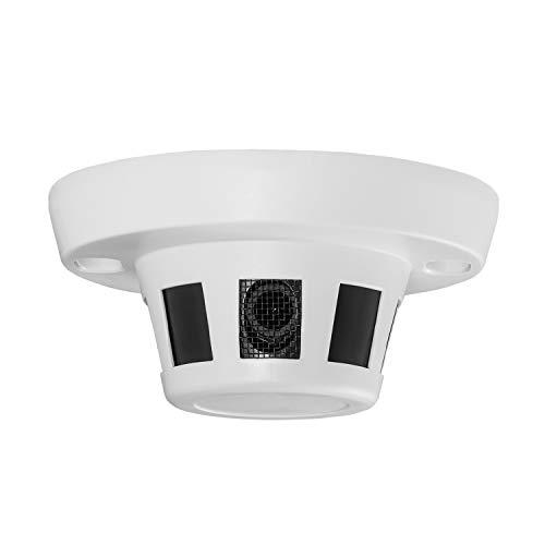HD 3MP Cámara IP de Seguridad para Interiores, cámara de Red Tipo Detector de Humo ONVIF P2P H.265 CCTV Videovigilancia Oculta 1080P 1296P sin visión Nocturna (I238 Blanco)