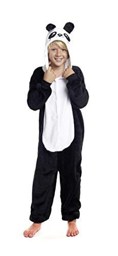 H HANSEL HOME Pijama Oso Panda Entero Infantil niño niñas de Dibujos Animado Disfraces Animales Carnaval Halloween Cosplay Ropa de Dormir. 100% Poliéster 4-6 años