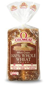 Oroweat Sliced Bread 24oz Loaf (Pack of 2) Choose Flavor Below (Whole Grains - 100% Whole Wheat)