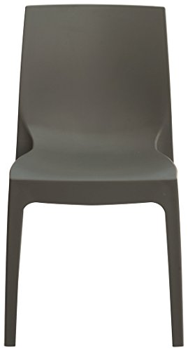 Grandsoleil Boheme Rome Greenpol Chaise empilable Vert, polymère, Anthracite, 54 x 52 x 81 cm