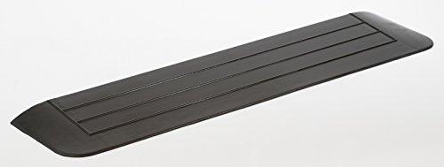 hablicare Türschwellenrampe mit 3 abgeschrägten Seiten, Schwellenrampe aus Gummi für barrierefreies Wohnen, Anti-Rutsch Oberfläche, für Innen- und Aussenbereich 2 x 15 x 90 cm