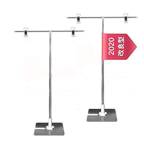 【2本セット】POPスタンド ポップスタンド 高さ調節可能 広告スタンド ポスタ用卓上スタンド持ち運びに便利...
