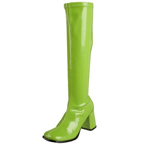 Pleaser Gogo300/yl, Damen Stiefel, Green (Lime), 40 EU