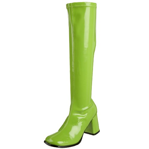 Pleaser Gogo300/yl, Damen Stiefel, Green (Lime), 40 EU