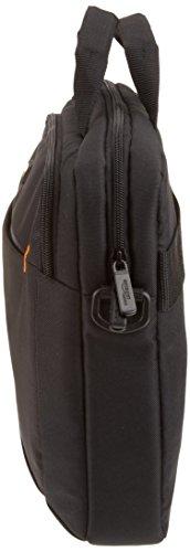 AmazonBasics Laptop-, Macbook- und Tablet-Schultertasche, für Laptops bis zu 14 Zoll (35,6 cm), Schwarz, 1 Stück - 6