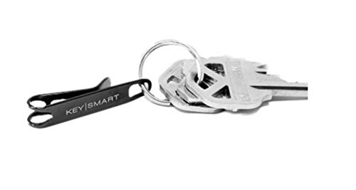 KeySmart Nano Clip - Pocket Clip Key Ring Holder - Secure Your Key Chain, Eliminates Pocket Bulge (Midnight Diamond, 1 Pack)
