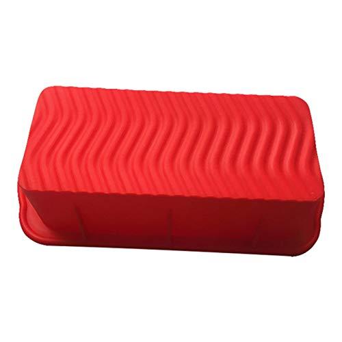 WGGTX Moldes para Pan y Hogazas DIY Molde de la Torta de Silicona Accesorios para Hornear Tostado Rectangular Pan Home Cocina Herramientas Molde de Pan (Color : Red)