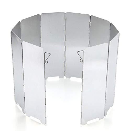 Estufa de Camping Gas portátil Barbacoa de Gas Olla de Acampada del Parabrisas del Viento Guardia Plegable de la Estufa de Cocina Olla de Acampar al Aire Libre
