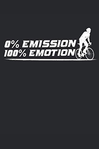 EMISSION EMOTION: Cooles Fahrrad Notizbuch Biking Notebook Rad Journal 6x9 kariert