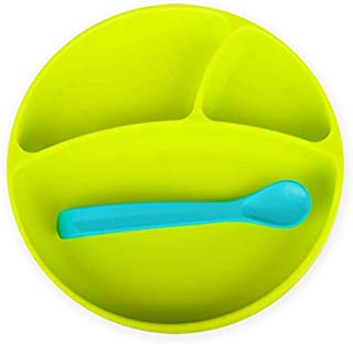 Bbluv Miäm Silicone Plate and Spoon, Lime - Pack of 1