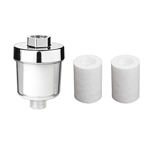 Camisin Filtro universal del grifo del purificador de salida de agua con 2 elementos de filtro de algodón PP de repuesto para la cocina baño ducha