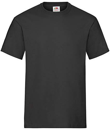 10 Fruit of the loom T Shirts Heavy Cotton M L XL XXL Diverse Farben auswählbar (L, Schwarz)