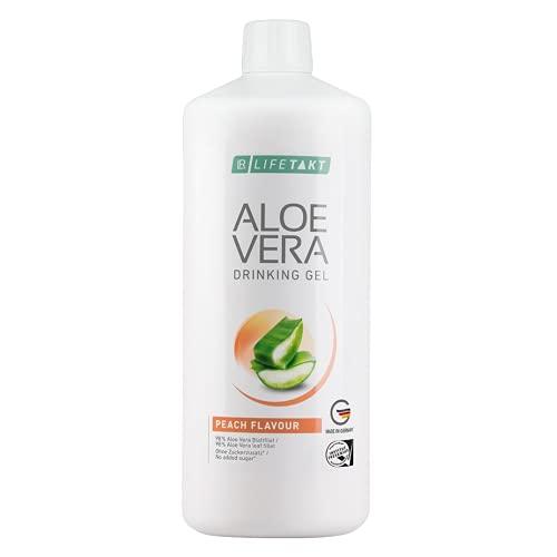 LR LIFETAKT Aloe Vera Drinking Gel Melocotón Suplemento alimenticio 1000 ml