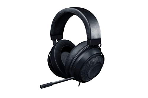 Razer Kraken Gaming Headset 2019 - [Matte Black]: Lightweight Aluminum Frame - Retractable Noise Cancelling Mic - for PC, Xbox, PS4, Nintendo Switch (Renewed)