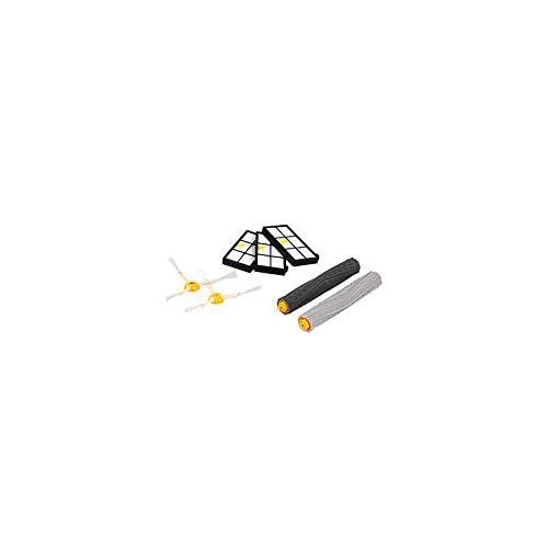 iRobot Accessoire Officiel - Kit d'entretien pour Roomba de série 800 et 900 - 2 brosses latérales - 3 filtres haute efficacité - une paire de brosses en silicone anti-emmêlement