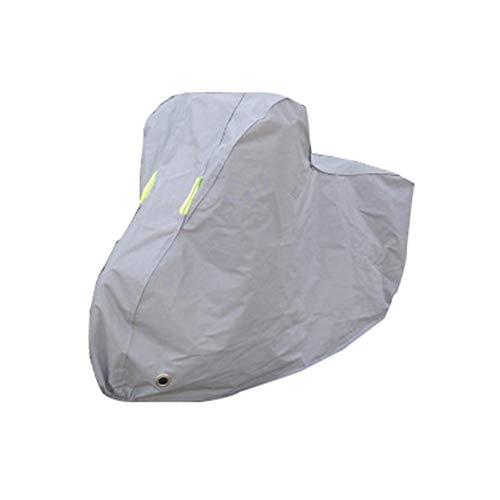 Cubierta de aluminio para bicicleta, impermeable, gruesa, antipolvo, lluvia, protección UV para bicicleta de montaña/bicicleta de carretera con bolsa de almacenamiento con agujeros de bloqueo, gris, 27.5 in