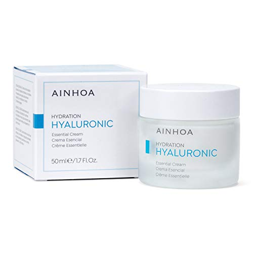 AINHOA Cosmetics – HYALURONIC Crema Esencial 50 ml – Tratamiento Facial Hidratante Intensivo con Ácido Hialurónico para Mujer/Hombre - Piel Normal/Mixta – Día/Noche- Calidad Profesional