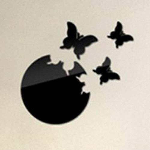 Little Deco Kinder Wandtattoo - Butterfly Moon 3D Stereo Wandaufkleber-schwarz