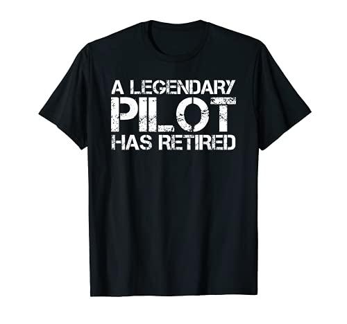 Un piloto legendario se ha retirado divertido regalo de Copilot de jubilación Camiseta