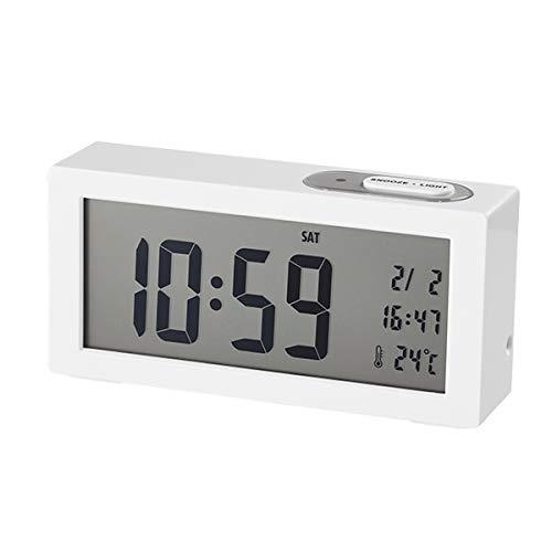 Dugena Digital Wecker mit Temperaturanzeige Weiß 4460964