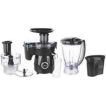 Galileo Casa 2197984 - Robot de cocina multifunción, negro, 400 W, acero + plástico, negro: Amazon.es: Hogar
