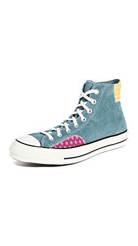 Converse Chuck 70 Twisted Prep Patchwork - Zapatillas Altas para Hombre, Azul (Faded Spruce/Amarillo/Rose Mar), 44 EU